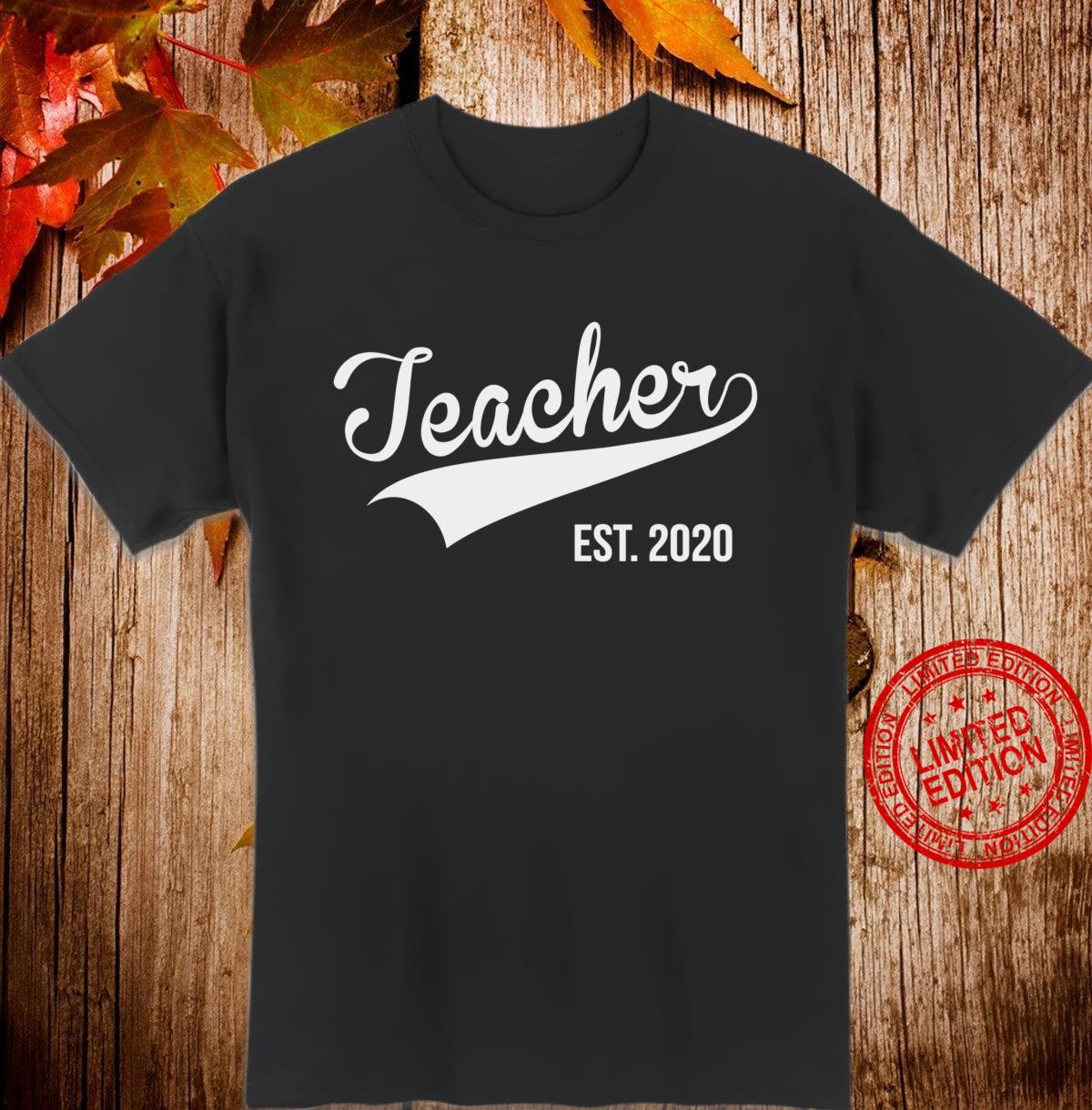 Teacher Est. 2020 Pregnancy Announcement Shirt