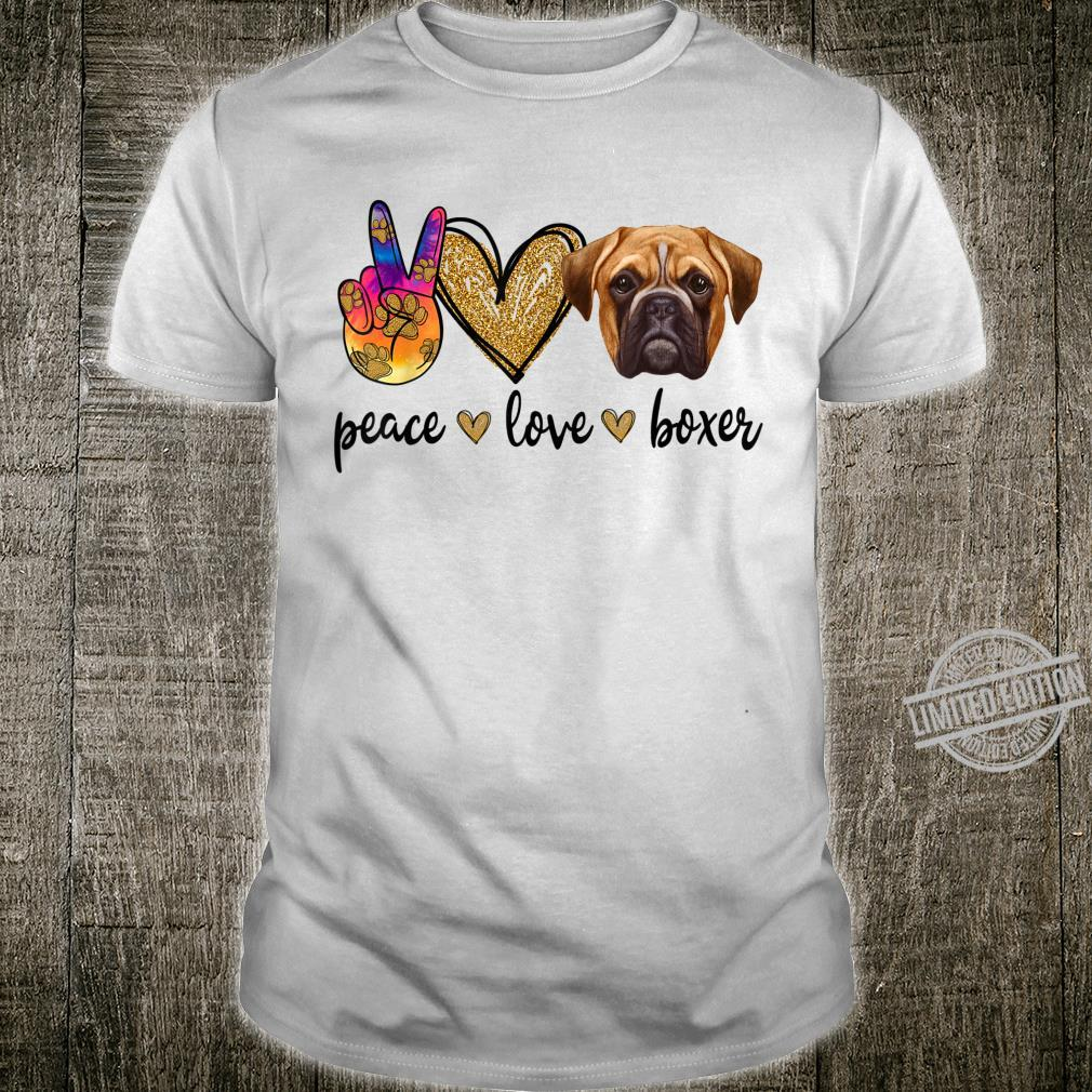 TieDye Peace Sign Love Hippy Outfit Fun Boxer Dog Mom Shirt