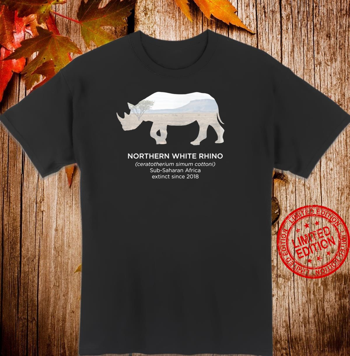 White Rhino Rhinoceros Extinct Animal Endangered Species Shirt