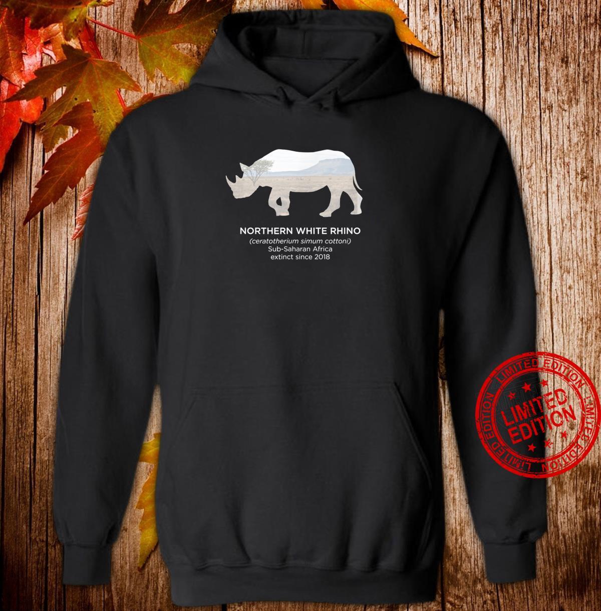 White Rhino Rhinoceros Extinct Animal Endangered Species Shirt hoodie