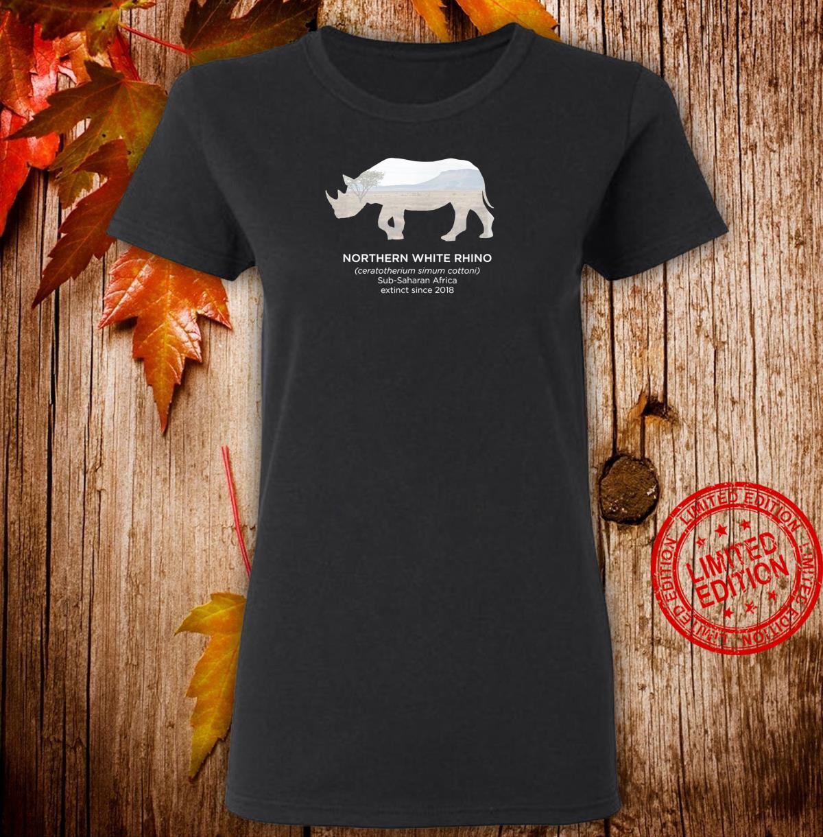 White Rhino Rhinoceros Extinct Animal Endangered Species Shirt ladies tee