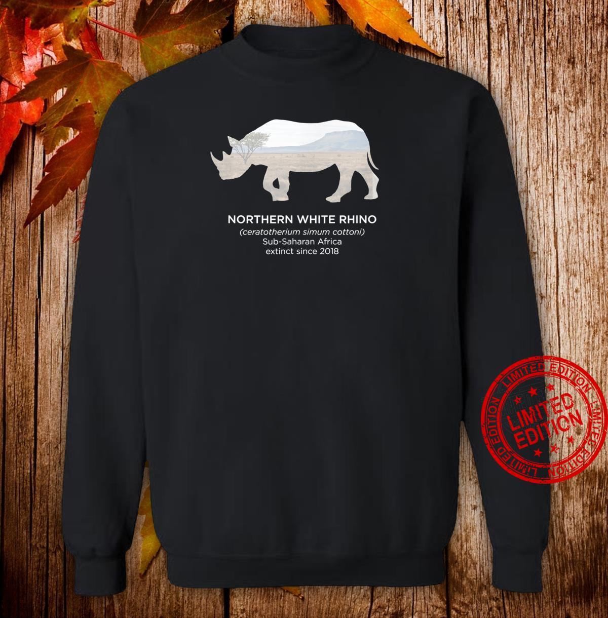 White Rhino Rhinoceros Extinct Animal Endangered Species Shirt sweater