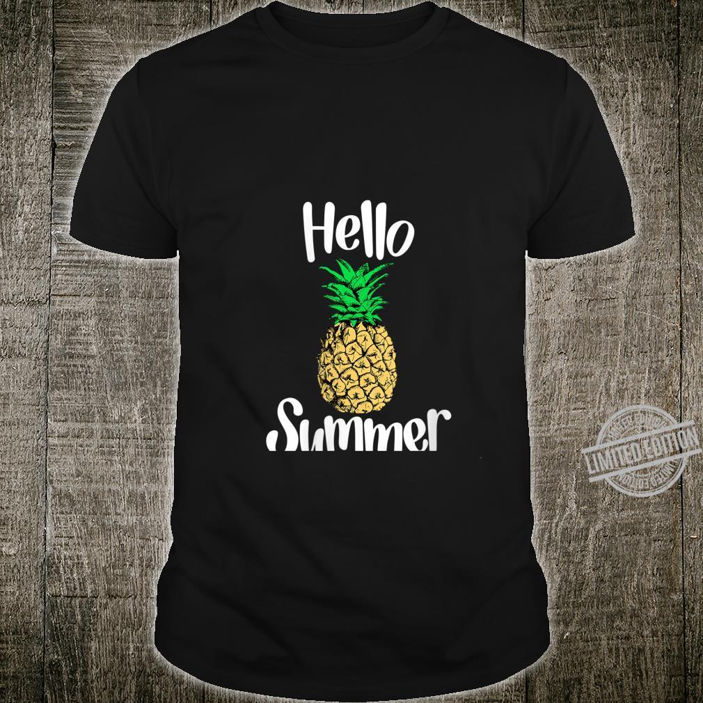 Womens Pineapple, Hello Summer Pineapple Shirt