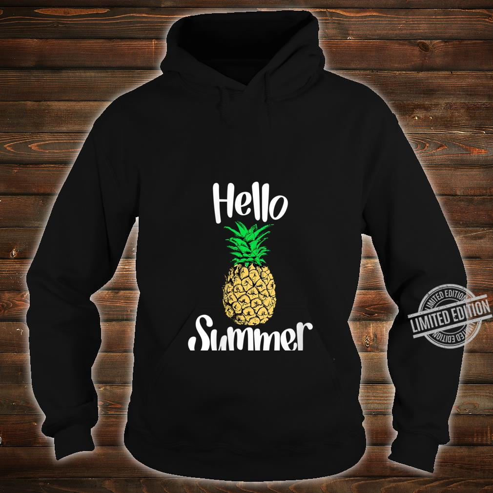 Womens Pineapple, Hello Summer Pineapple Shirt hoodie