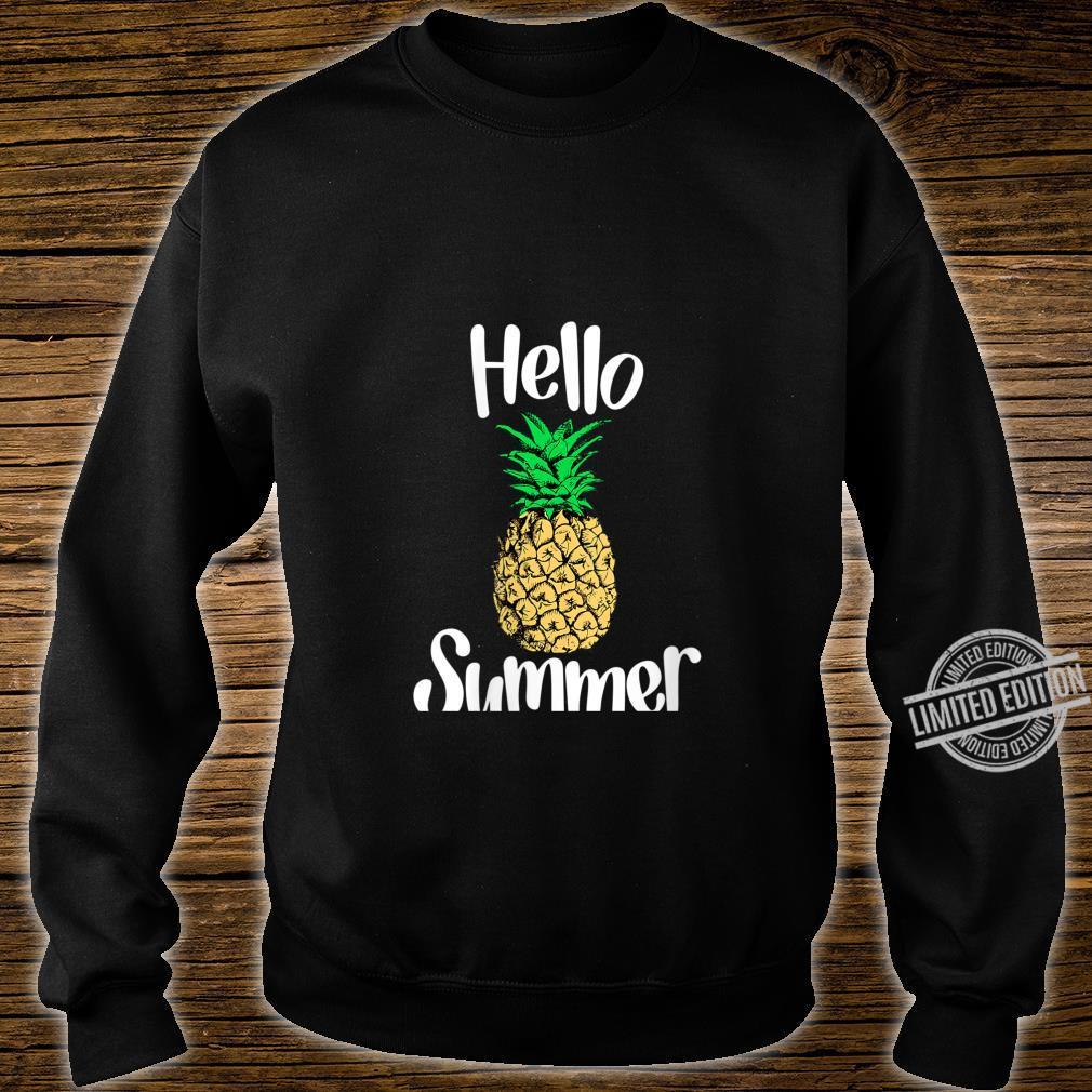 Womens Pineapple, Hello Summer Pineapple Shirt sweater