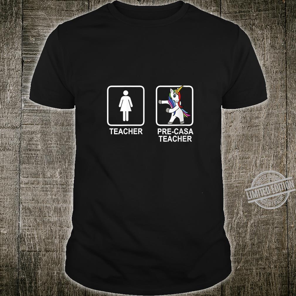 Womens Pre Casa Teacher Unicorn Shirt Flossing Unicorn Shirt